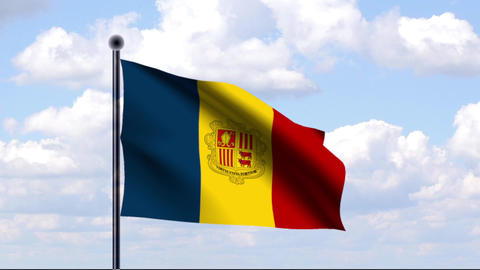 Animated Flag of Andorra Animation