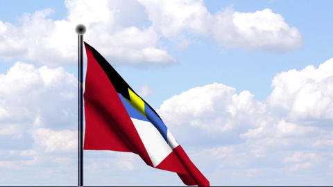 Animated Flag of Antigua and Barbuda Stock Video Footage