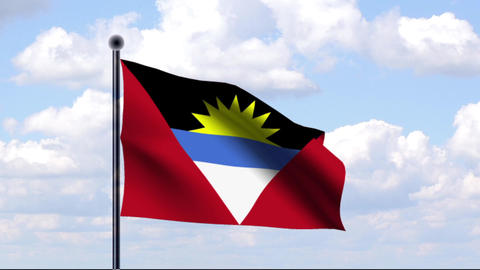 Animated Flag of Antigua and Barbuda Animation
