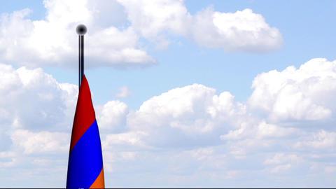 Animated Flag of Armenia / Armenien Stock Video Footage