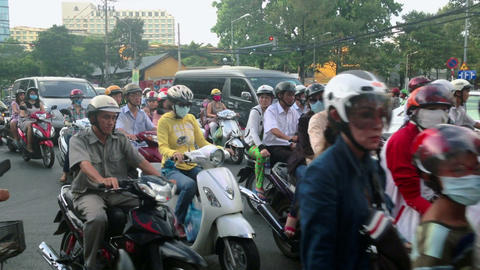 SCOOTER TRAFFIC IN VIETNAM - HO CHI MINH CITY Footage