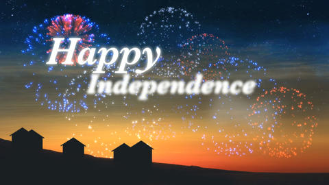 Happy Independence Day Title Stock Video Footage