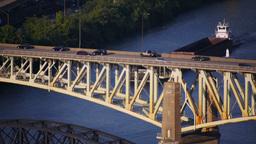 Liberty Bridge Stock Video Footage