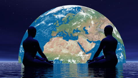 Meditation for earth - 3D render Animation