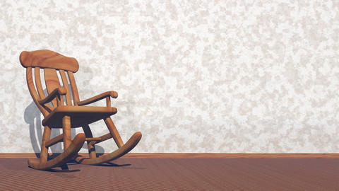 Swaying rocking-chair - 3D render Animation