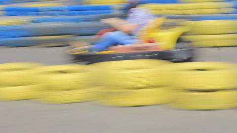 Carting in the park Stock Video Footage