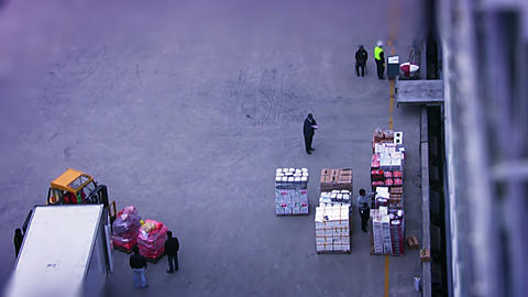 Loading food aboard the ship Stock Video Footage