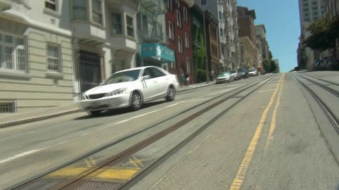 San Francisco Cable Car - 3 Stock Video Footage