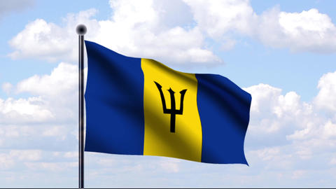 Animated Flag of Barbados Animation