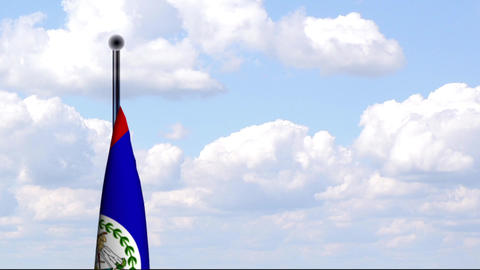 Animated Flag of Belize Stock Video Footage