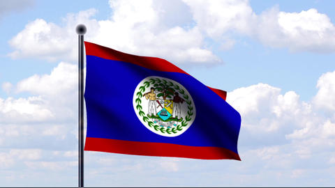 Animated Flag of Belize Animation