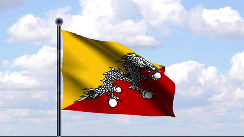 Animated Flag of Bhutan / Animierte Flagge von Bhu Animation