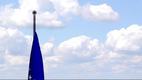 Animated Flag of Bosnia and Herzegovina / Animiert Stock Video Footage
