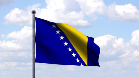 Animated Flag of Bosnia and Herzegovina / Animiert Animation