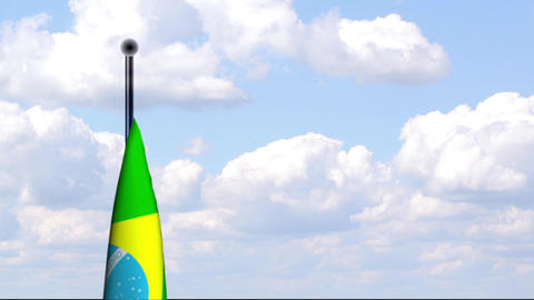 Animated Flag of Brazil / Animierte Flagge von Bra Stock Video Footage
