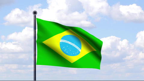 Animated Flag of Brazil / Animierte Flagge von Bra Animation