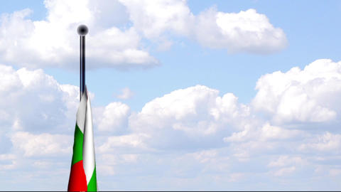 Animated Flag of Bulgaria / Animierte Flagge von B Stock Video Footage