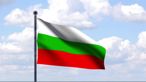 Animated Flag of Bulgaria / Animierte Flagge von B Animation