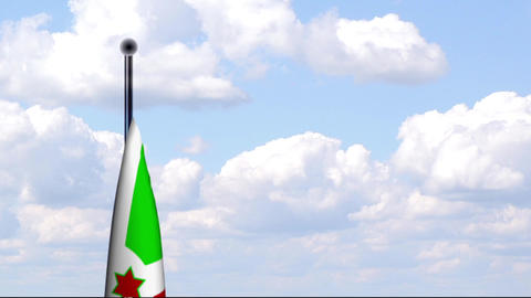 Animated Flag of Burundi / Animierte Flagge von Bu Stock Video Footage