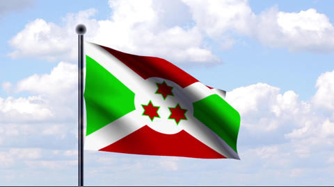 Animated Flag of Burundi / Animierte Flagge von Bu Animation