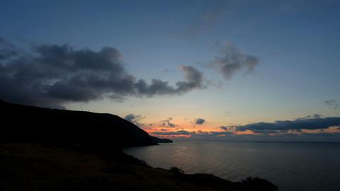 Timelapse sunrise in the mountains. Mountain Meganom, Crimea, Ukraine Footage