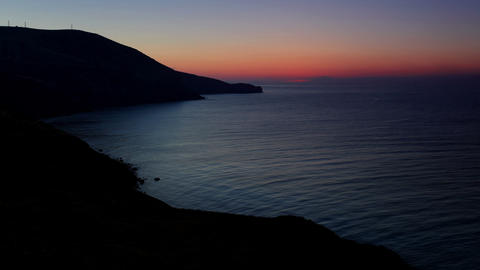 Timelapse sunrise in the mountains. Mountain Meganom,... Stock Video Footage