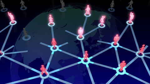 Social Network Connection A 1b 6 HD Animation