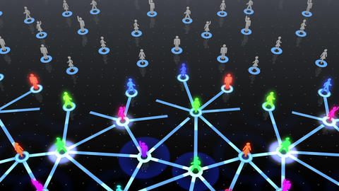 Social Network Connection A 3b 5 HD Stock Video Footage