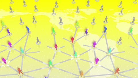Social Network Connection A 3w 5 HD Animation