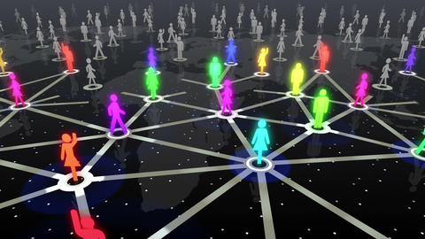 Social Network Connection A 4b 5 HD Animation
