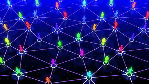 Social Network Connection A 5b 5 HD Stock Video Footage