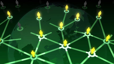 Social Network Connection B 1b 6 HD Animation