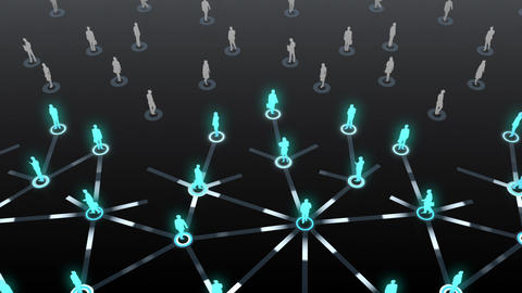 Social Network Connection D 3b 6 HD Stock Video Footage