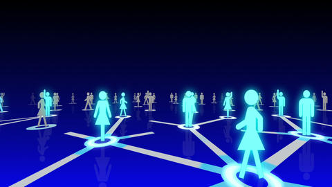 Social Network Connection A 2b 4 HD Stock Video Footage