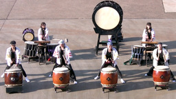 Japanese drums Stock Video Footage