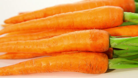 Fresh young organic carrots Stock Video Footage
