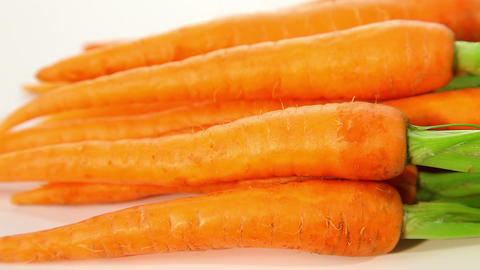Fresh young organic carrots Footage