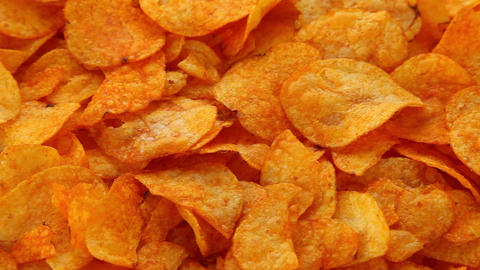 Paprika chips Stock Video Footage