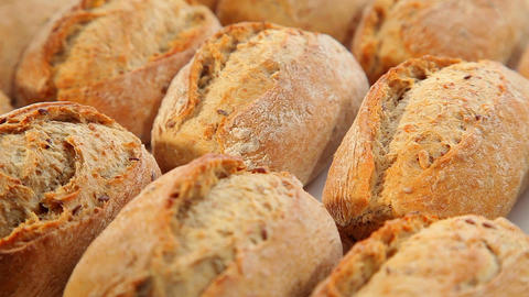 Tasty Fresh Brown Bread stock footage