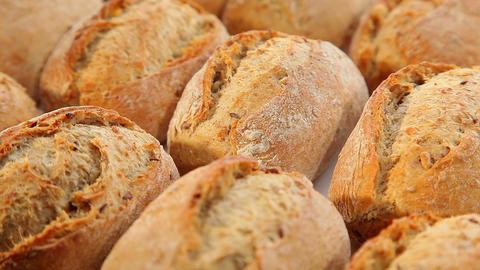 Tasty fresh brown bread Stock Video Footage