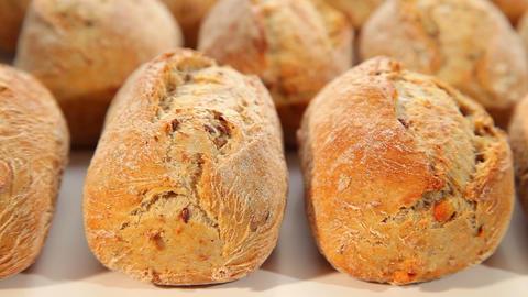 Dark bread, dark roll Stock Video Footage