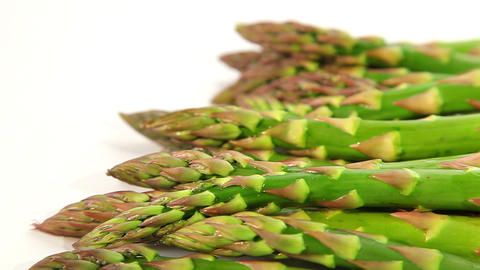 Organic food, green asparagus Footage
