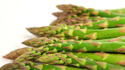 Organic food, green asparagus Stock Video Footage