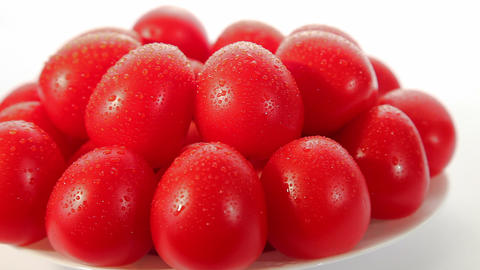 Organic food, ripe red tomatoes Stock Video Footage
