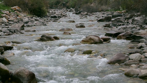 Mountain river and the sound of water Stock Video Footage