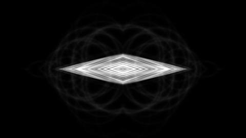 metal rhombus geometry structure & fiber optic Stock Video Footage