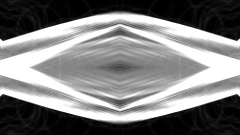 metal rhombus geometry structure & fiber optic Animation