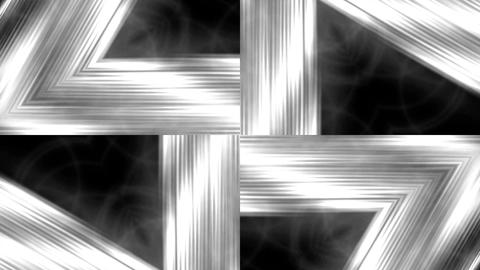 silver metal triangle geometry structure tunnel &... Stock Video Footage