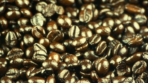 coffee beans closeup Stock Video Footage