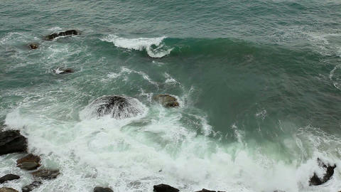 motion of the waves on the beach Stock Video Footage